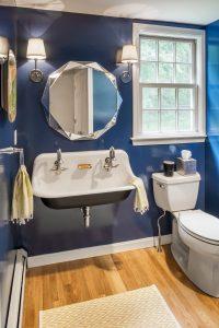 wall-mounted trough style sink rhode island bathroom remodel