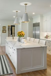 kitchen island remodel in East Greenwich