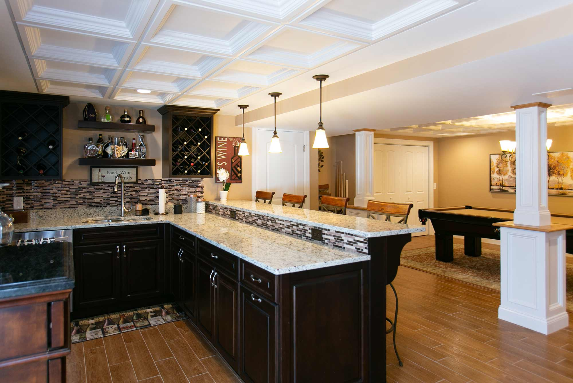 Bica Finished Basement Kitchen