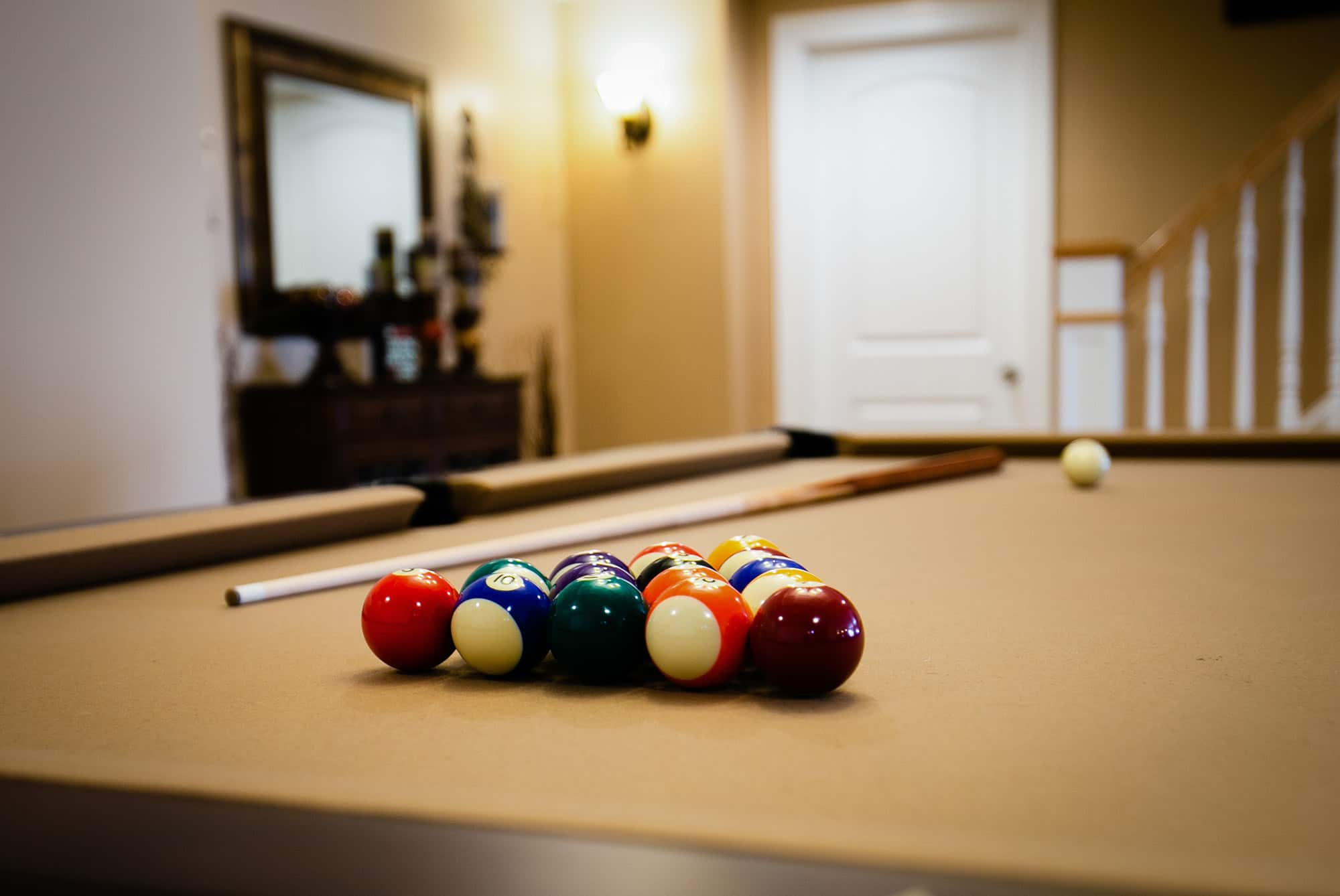 Bica Finished Basement Pool Table