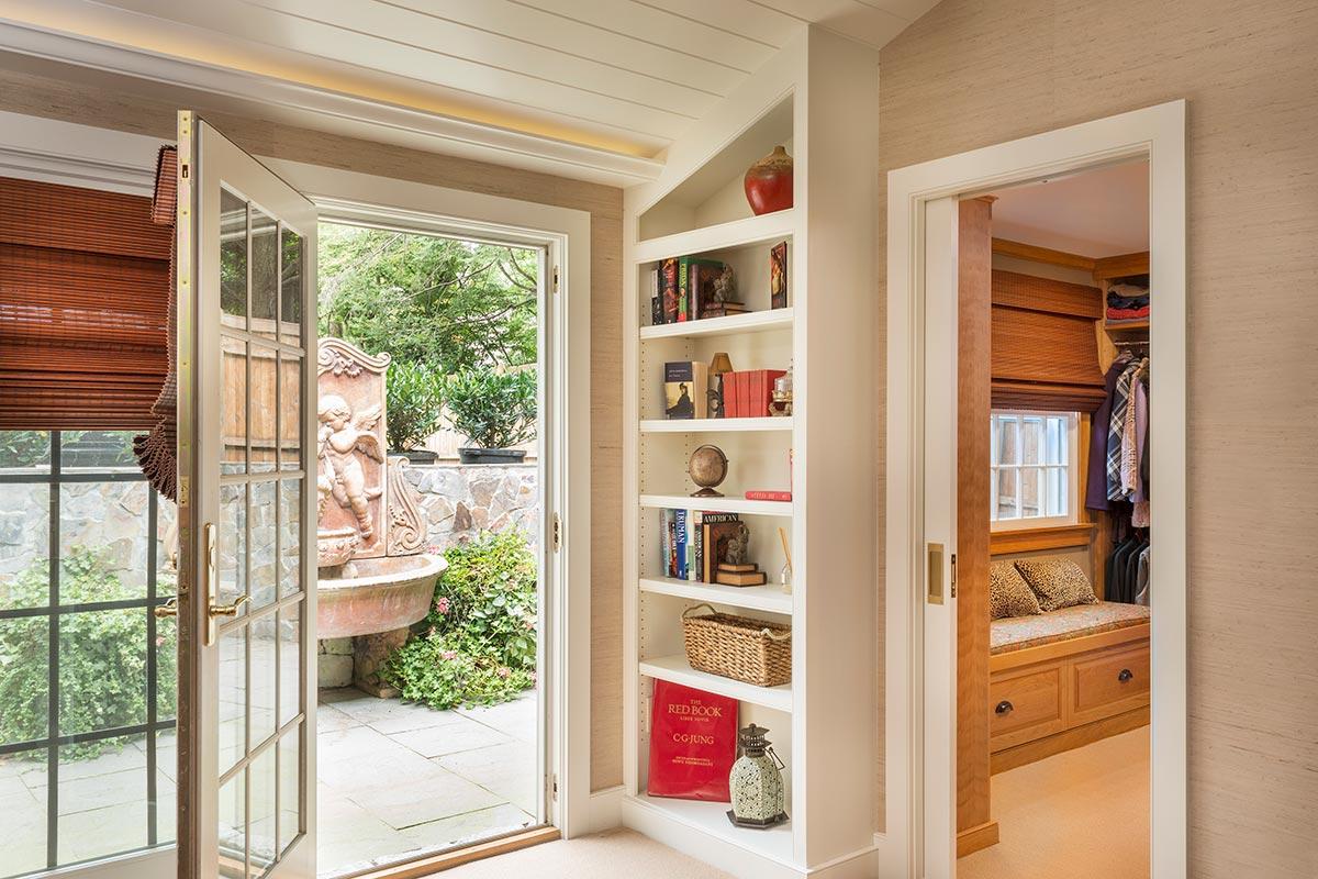 Church Renovation Bookshelf & Back Entrance