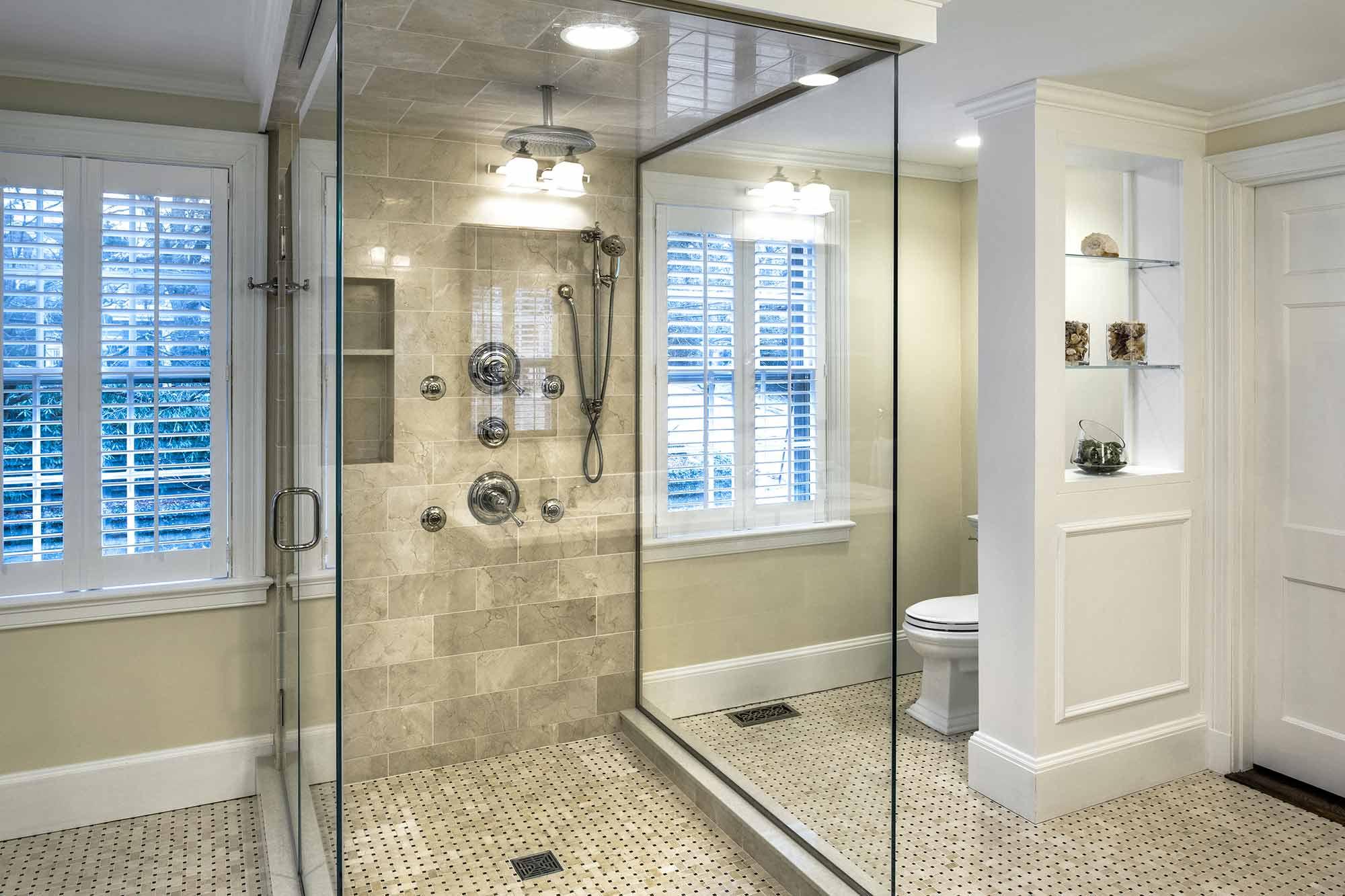 Eastern Providence Historic Remodel Glass Shower