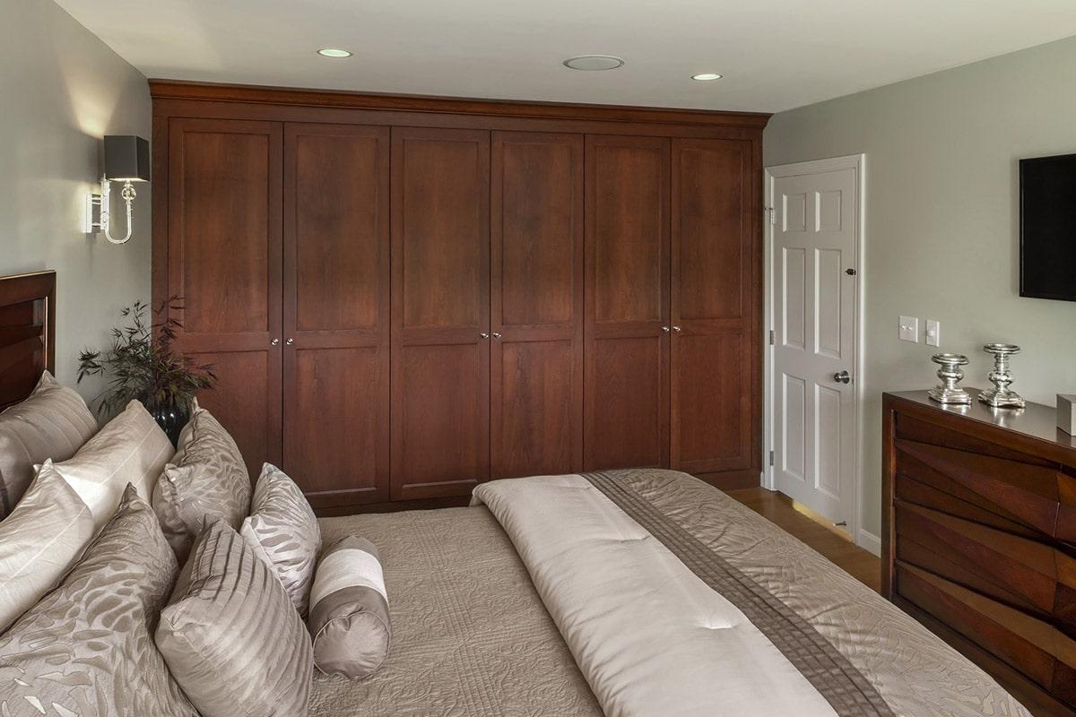 Newport Condo Renovation Bedroom Wall Cabinet