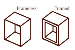 framed vs frameless cabinets