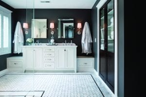 Bathroom lighting is one of the bathroom renovation zones in east greenwich ri
