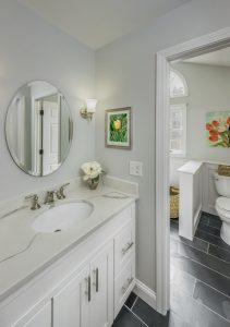 the undermount sink is one of the types of sinks for bathrooms in east greenwich ri bathroom remodel