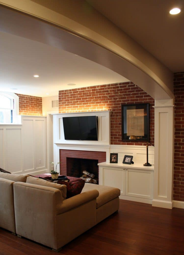 finished basement on the East side of providence RI