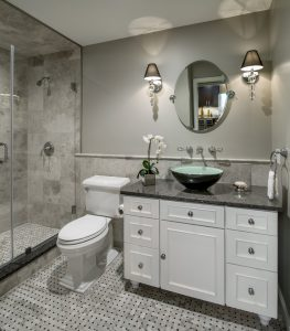 the vessel sink is one of the types of sinks for bathrooms