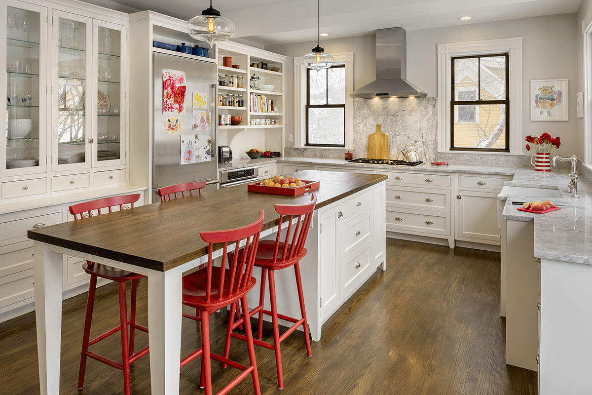 Red House Remodeled Kitchen