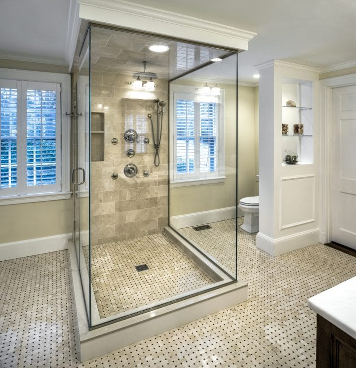 Interior design trends 2020 walk-in showers