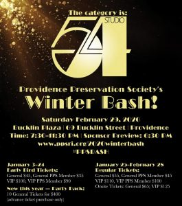 Providence Preservation Society Winter Bash 2020