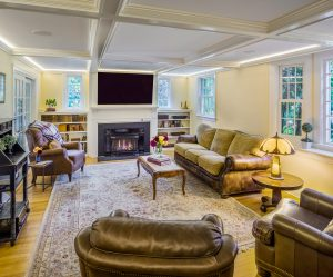 living room renovation in Barrington, Rhode Island