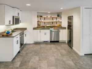 basement kitchen renovation east side of providence rhode island