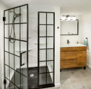 contemporary basement bathroom remodel east side of providence